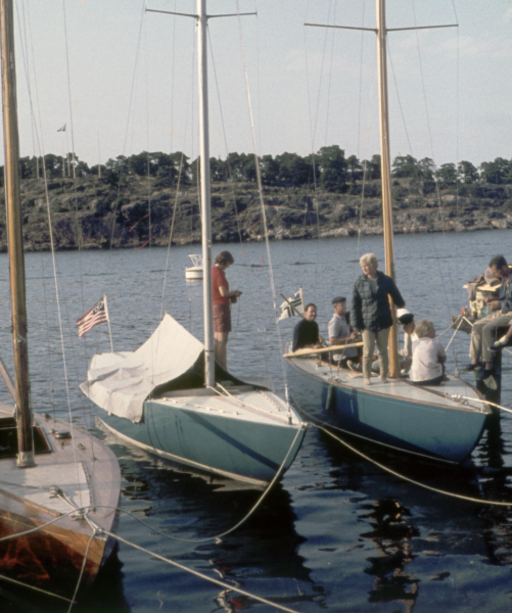 Sabre and Kan-Bei in Sandhamn, 1959