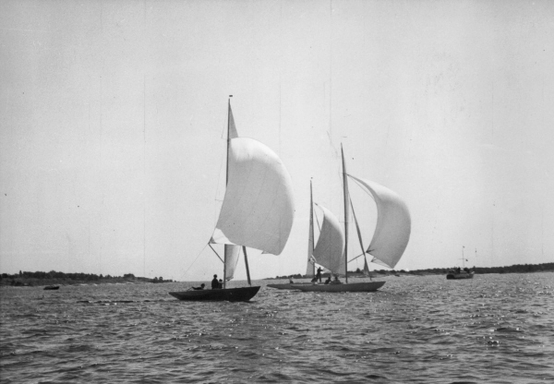 5.5m NOR-1 Shamal in Sandhamn Regatta in Sweden, July 1950