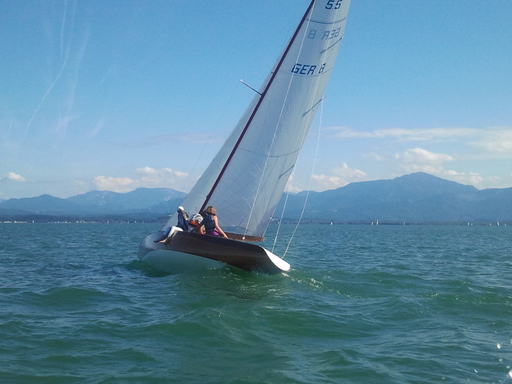 """5.5 GER 8 """"Lady Luv"""" - on Chiemsee"""