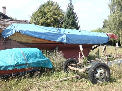 Boat found at Philippe Kolly's shipyard, 21.08.09