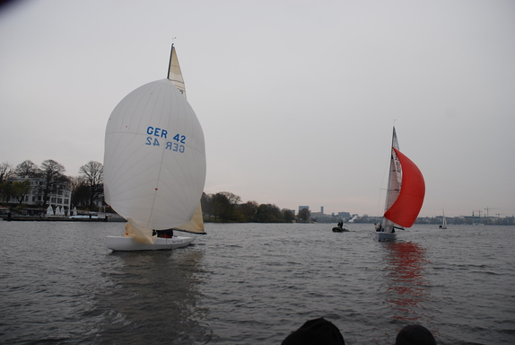 5.5 GER 42 & SUI 227 - on the Alster Lake