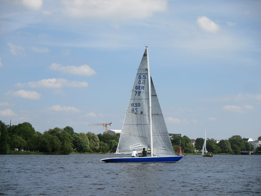 """5.5 GER 78 """"Southern Cross IV"""" - on the Alster Lake"""